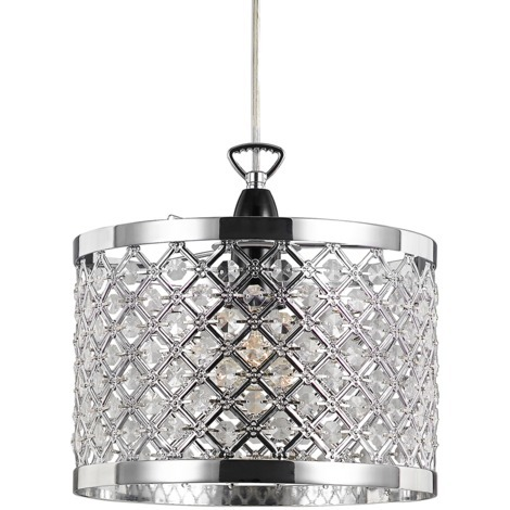 Modern Sparkly Ceiling Pendant Light Shade with Clear Beads by Happy Homewares