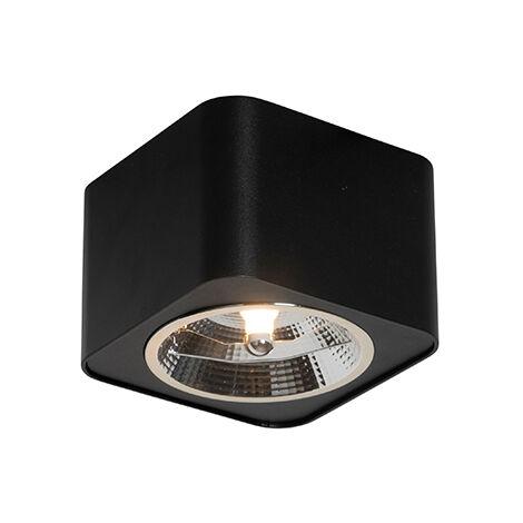 Modern Spot de Plafond noir 12,5 cm - Boxer Qazqa Moderne Luminaire interieur