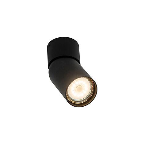 Modern Spot de Plafond noir - Falo Qazqa Moderne Luminaire interieur Cylindre / rond