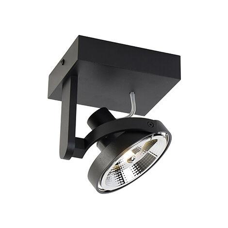 Modern Spot de Plafond noir - Master 111 Qazqa Moderne Luminaire interieur
