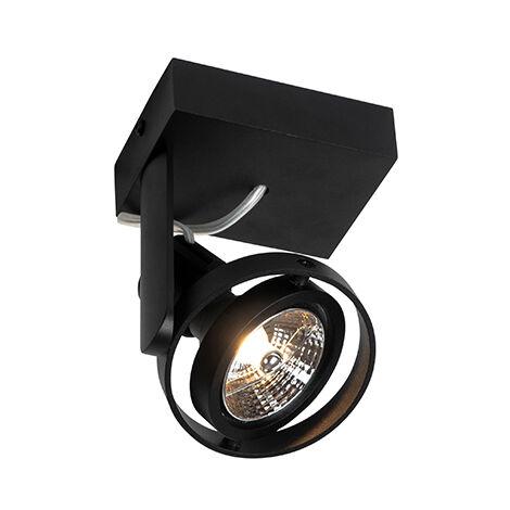 Modern Spot de Plafond noir - Master 70 Qazqa Moderne Luminaire interieur Rond