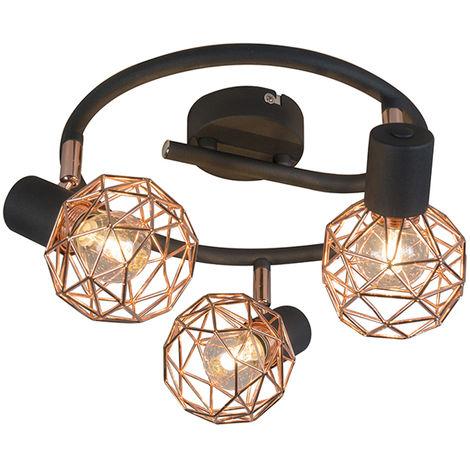 Modern Spotlight Copper with Black - Mesh 2