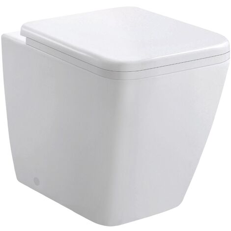 Modern Square Back To Wall Toilet Pan with Soft Close Seat
