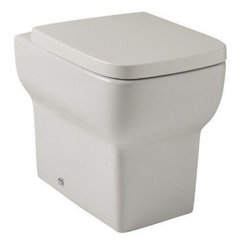 Modern Square Back To Wall WC Toilet Pan and Soft Close Seat