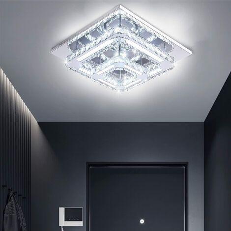 Modern Square Ceiling Lamp 30cm 36W LED Crystal Ceiling Light Chandelier Bilayer Chandelier Cool White