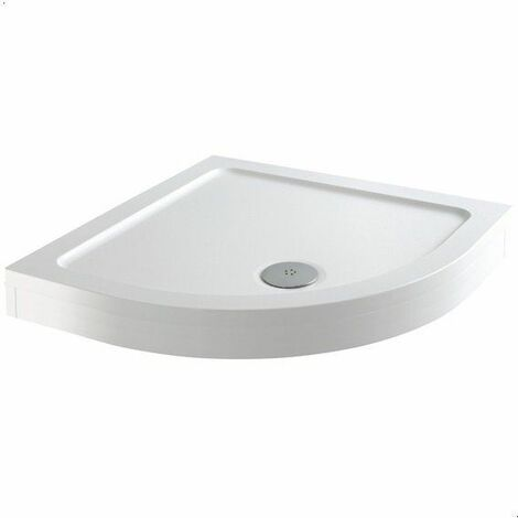 Modern Square Shower Tray 800 x 800mm Easy Plumb Slimline Lightweight White