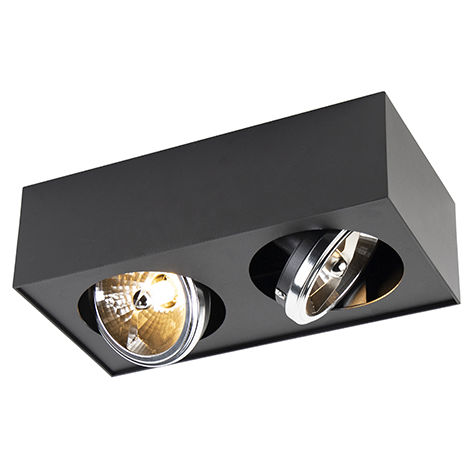 Modern Square Spotlight 1 Black incl. G9 LED - Kaya