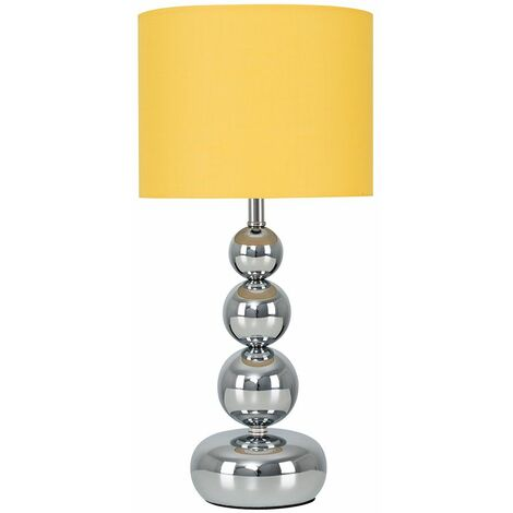 Modern Stacked Balls Touch Table Lamp With A Cotton Shade