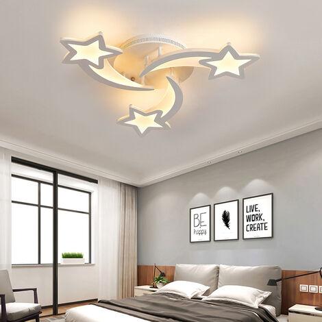 Modern Star LED Chandelier Ceiling Light , 5 Head Dimmable