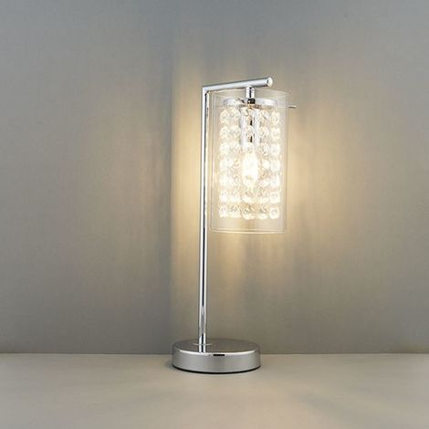 Modern Style Alda Table Lamp 40W SW - Silver Chrome Finish Plate
