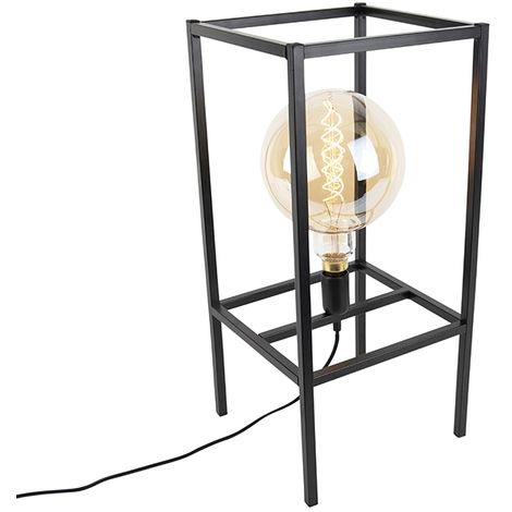 Modern table lamp black 1-light - Big Cage