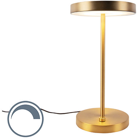Modern Table Lamp Bronze incl. LED - Disco