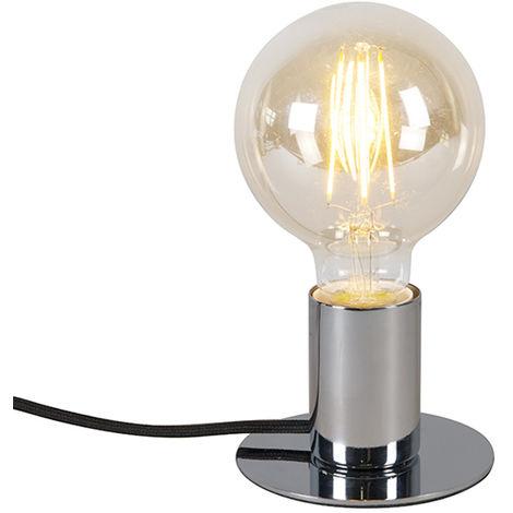 Modern table lamp chrome - Facil