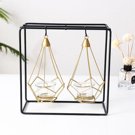 Modern Tea Light Holder Candle Holders Wedding Party Candlesticks Metal Lantern