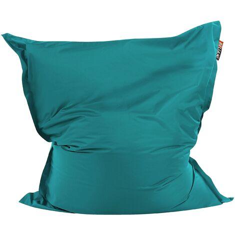 Modern Teal Bean Bag Large Polyester Cover Zipper Living Room Bedroom