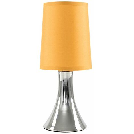 Modern Touch Table Lamp Dimmable Chrome Bedside Lounge Light Shade