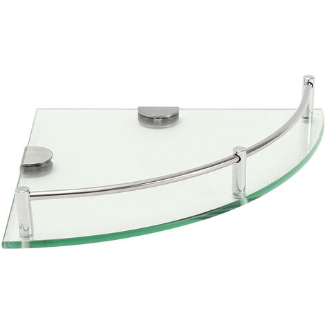 Modern Triangular Glass Wall Shelf Bathroom Kitchen Hotel Home Decor With Accessory