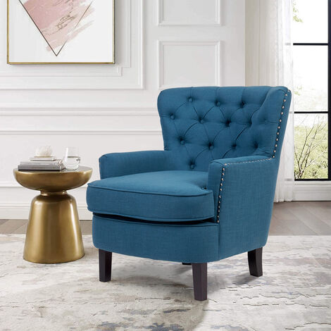 Modern Tub Chair Large Club Chair Luxury Accent Sofa for Dining Living Room Cafe - Different colours