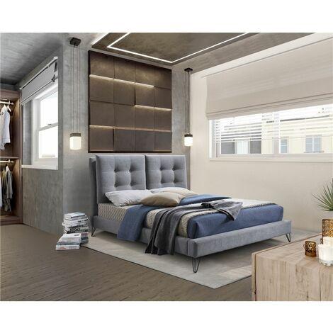 Modern Tuscan Fabric Grey Bed Frame - King 5ft