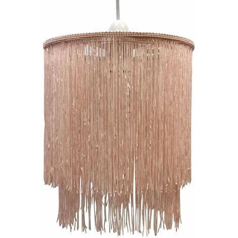 Modern Two Tier Tassel Design String Ceiling Light Shade Easy Fit Pendant