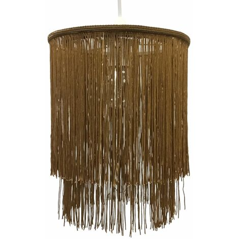 Modern Two Tier Tassel Design String Ceiling Light Shade Easy Fit Pendant