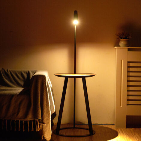 Modern USB Floor Lamp Bedside Table Lamp Walnut Wood Desk Reading Light Brighting