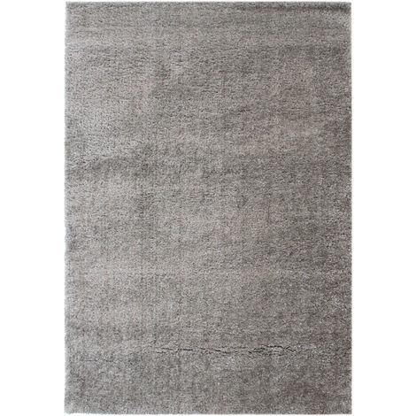Modern Very Soft Velvet Shaggy Silver Rug Deep Pile Home Carpet