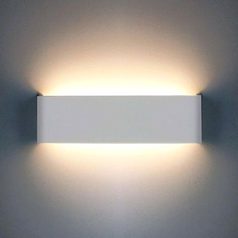 the latest 88a2f 9e43b Modern Wall Lamp 12W 1200LM LED Wall Light Up Down Indoor Aluminum Wall  Sconce for Living Room Bedroom Bathroom Dining Room Corridor Stairs  Balcony, ...