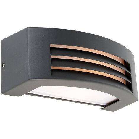 "main image of ""Modern wall lamp anthracite IP44 - Hurricane 1"""