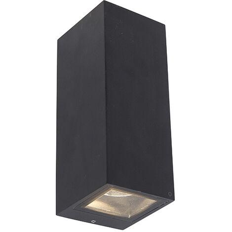 Modern wall lamp black GU10 AR70 IP54 - Baleno II