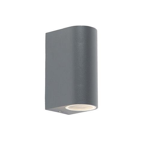 Modern wall lamp dark gray IP44 - Ben 2