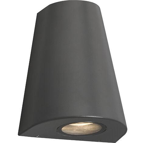 "main image of ""Modern wall lamp dark gray IP44 - Dreamy"""