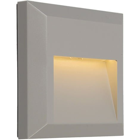 Modern Wall Lamp Light Grey incl. LED - Gem 2