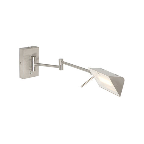 Modern wall lamp steel incl. LED with touch dimmer - Notia