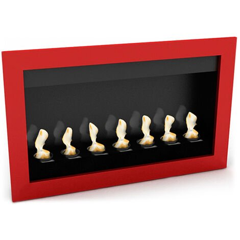 Modern Wall-Mounted Ethanol Fireplace - VPF-FD50-RED Red