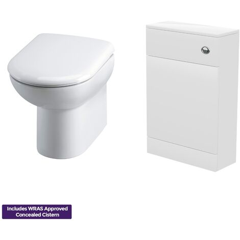 Modern WC Toilet and Concealed Cistern