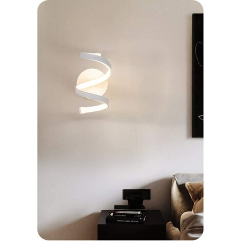 Modern White Acrylic Wall Light, LED Wall Lamp Creative Design Indoor Wall Sconce for Bedroom, Living Room 220V 18W Warm White