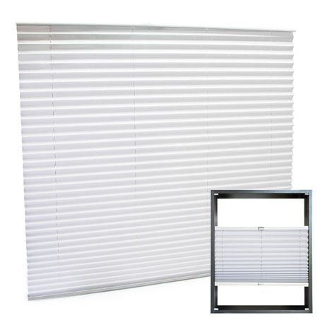 Modern white-coloured Pleated Blinds 110x150cm Plissé Drop Blinds Window Blinds Temporary Blinds