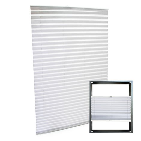 Modern white-coloured Pleated Blinds 55x150cm Plissé Drop Blinds Window Blinds Temporary Blinds