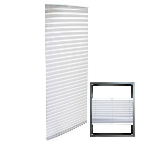 Modern white-coloured Pleated Blinds 55x200cm Plissé Drop Blinds Window Blinds Temporary Blinds