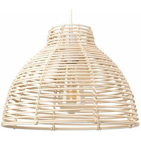 Modern Wicker Rattan Basket Ceiling Pendant Light Shade