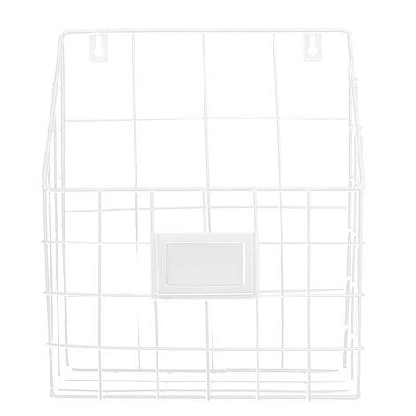 Modern Wire Magazine Cesta de periódicos Organizador de estante de almacenamiento montado en la pared LAVENTE