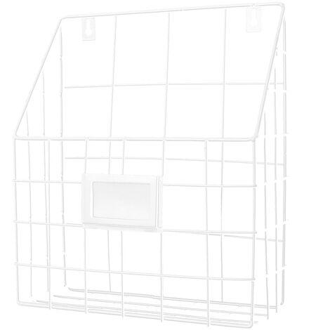 Modern Wire Magazine Newspaper Basket Wall Mounted Post Storage Rack Organizer Mohoo