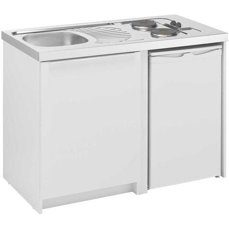 MODERNA Kitchenette CADETTE éléments bas 120x60 Blanc Mélaminé
