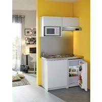 MODERNA Kitchenette complète CADETTE 120x60 Blanc Mélaminé