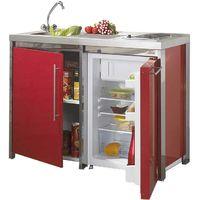 MODERNA Kitchenette METALLINE éléments bas 120x60 Rouge Carmin