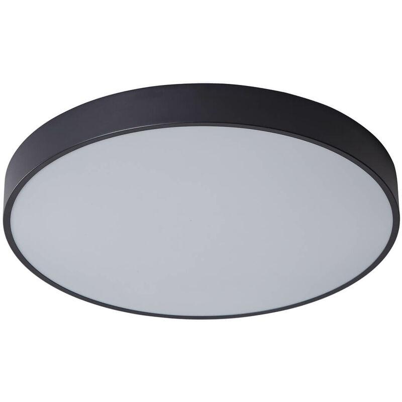 11-italux - Moderne Deckenleuchte Orbital Black sandgestrahlt