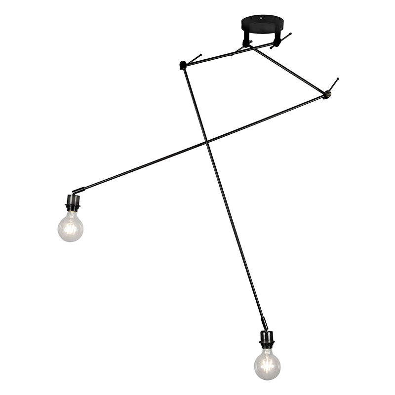 Qazqa - Moderne Hängelampe schwarz ohne Lampenschirm - Blitz II