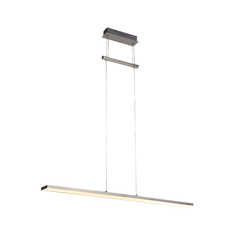 Qazqa - Moderne Hängeleuchte stahl inkl. LED - Riley