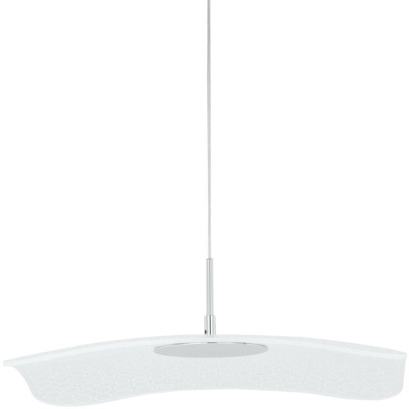 11-italux - Moderne Pendelleuchte Blossom Chrome, transparent
